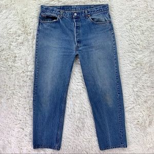 80's USA Levi's 501 xx Button Fly Jeans 36 x 30
